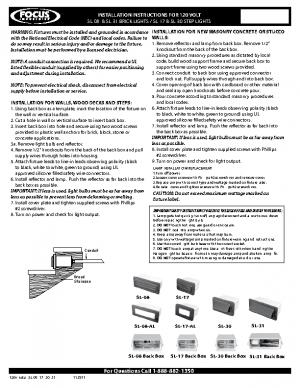 120v Install SL-08 -17 -30 -31