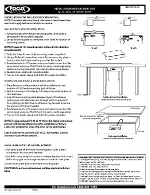 12v Install SL-42 -43