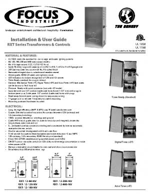 Rx Transformer Manual