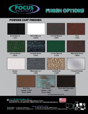 Focus Color Chip Chart