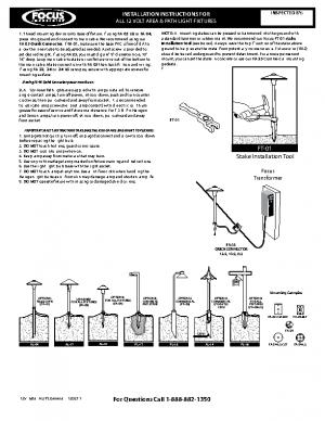 12v Area & Path Light Install General