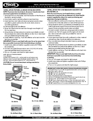 12v Install SL-08 -17 -30 -31