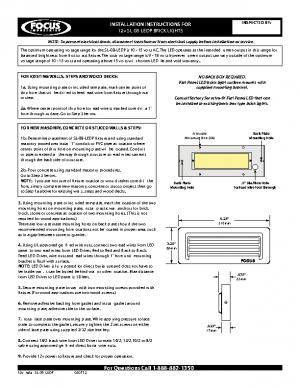 12v Install SL-08-LEDP