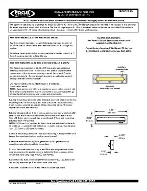 12v Install SL-50-LEDP