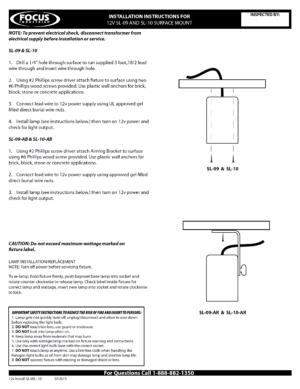 12v Install SL-09, -10