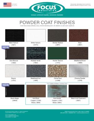 Powder Coat/Acid Finishes